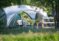 XL Grass Tent Pitch + hook up