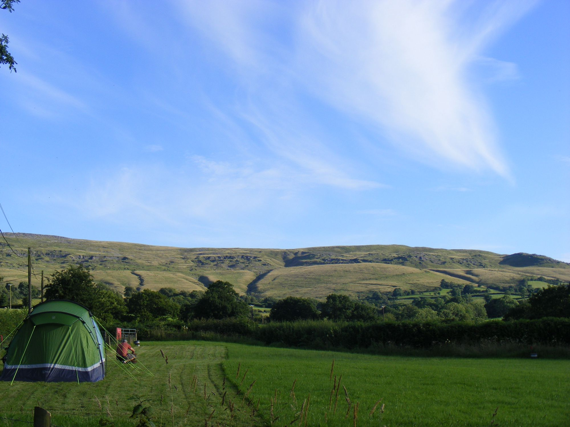 Adults-only, tent-only camping in the Brecon Beacons with space for just 15 grassy pitches.