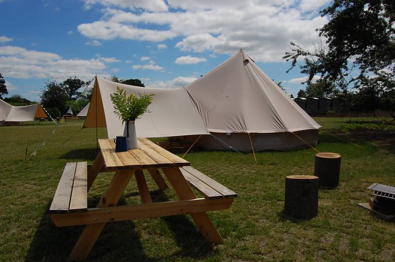 Amber's Bell Tent Camping at Hoveton Estate