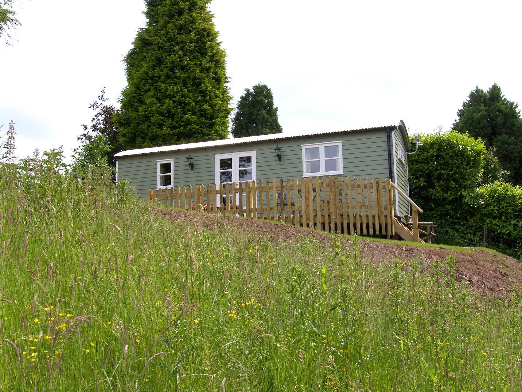 Shepherd's hut glamping and an isolated, pond-side cabin retreat on a working beef farm in the heart of the Shropshire countryside.