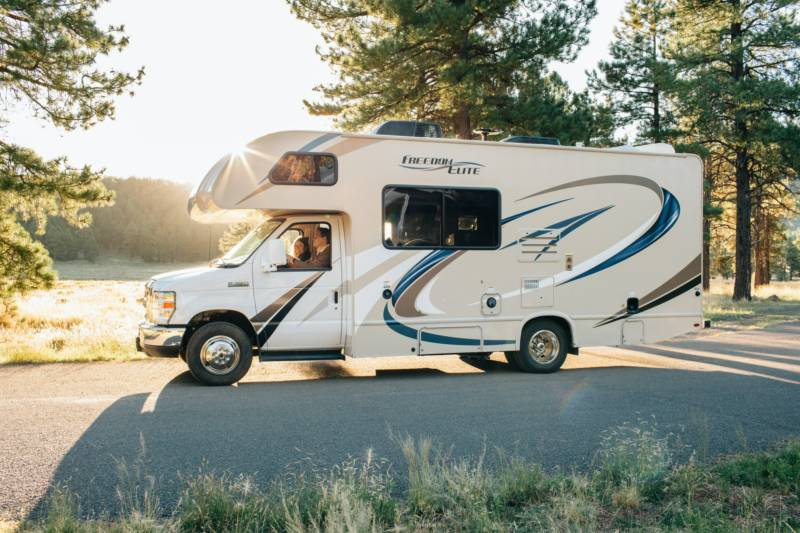 Large Motorhome Pitch with Power
