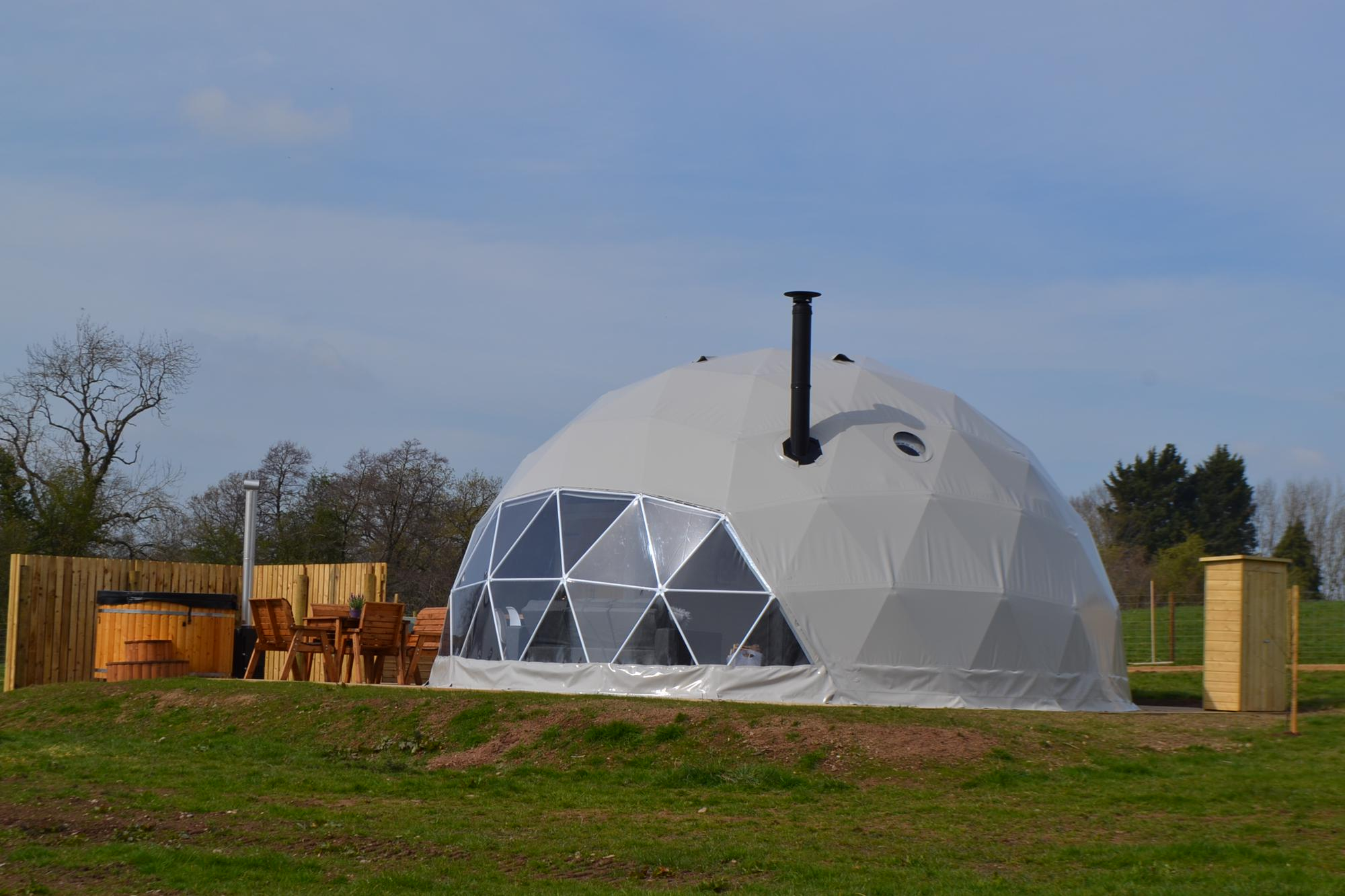 Glamping in Denbighshire holidays at Glampingly