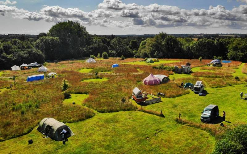 Looking to the wild: A picture gallery of campsites with beautiful 'wildlife corridors'.