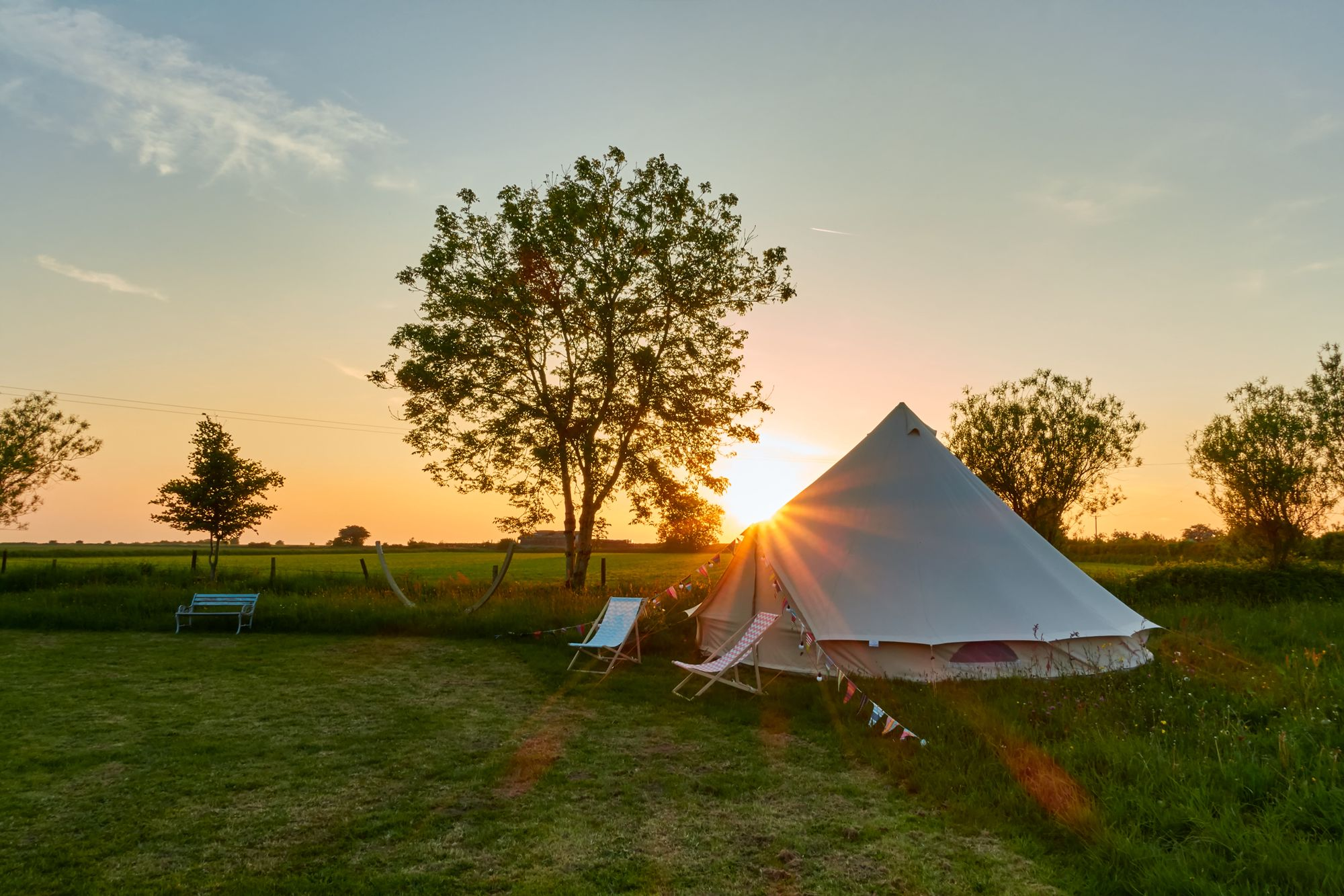 Luxury bell tent glamping in Somerset's Mendip Hills that's perfect for romantic breaks or peaceful family getaways.