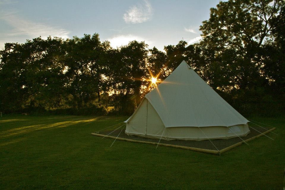 A camping and caravanning site that plays host to The Chew Valley Bell Tent – a cosy canvas home from home.
