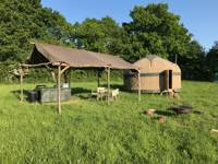 Ash Yurt - 16ft, with outdoor kitchen