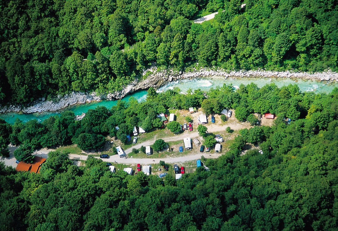 Campsite from the air