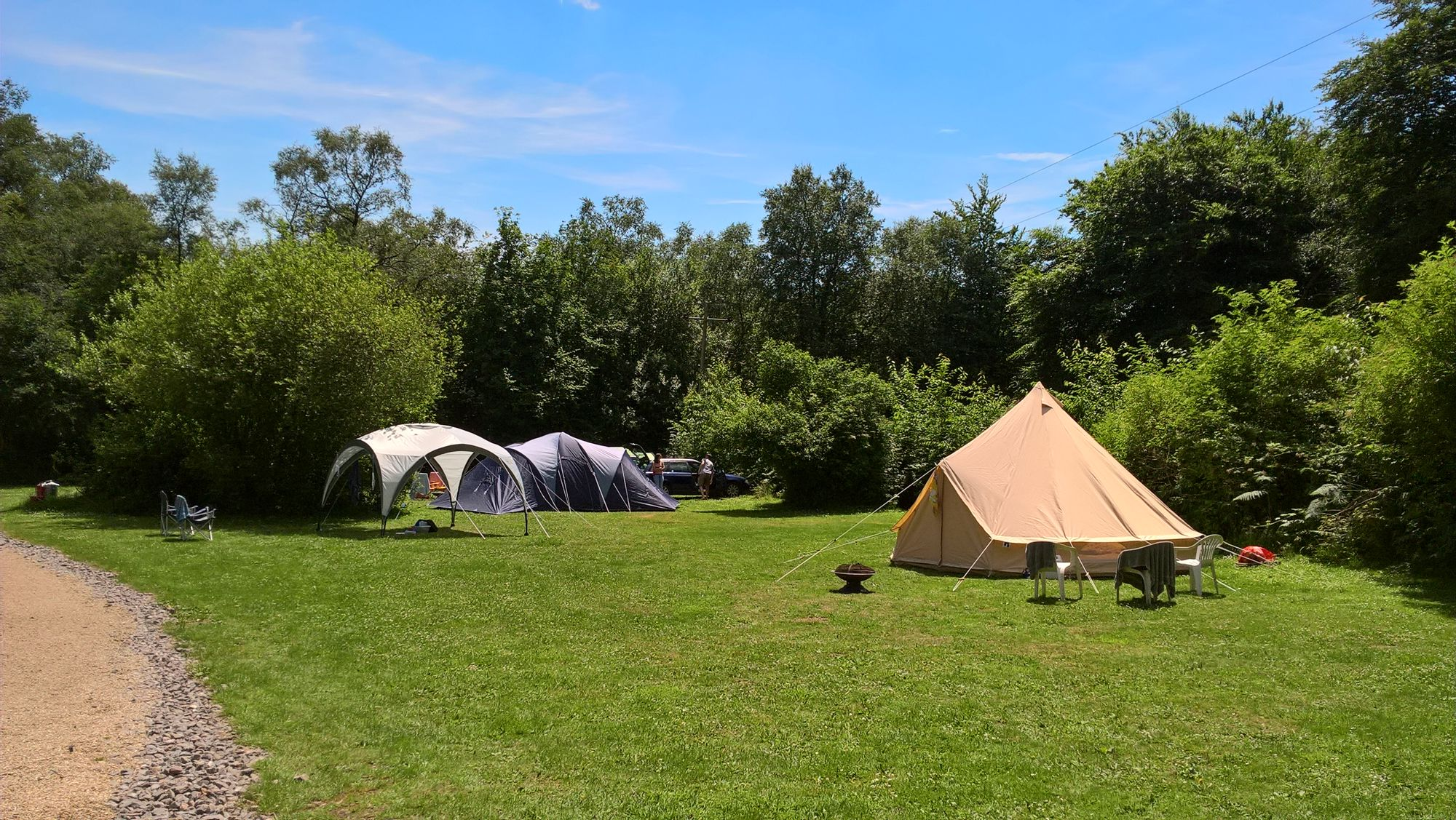 Electric Grass Pitch At Kingsmead Centre Cool Camping