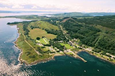 Shieling Holidays, Isle of Mull, from the air