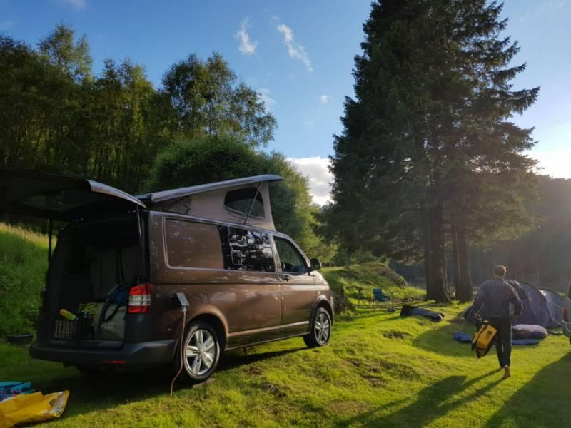 Campervan hire in England