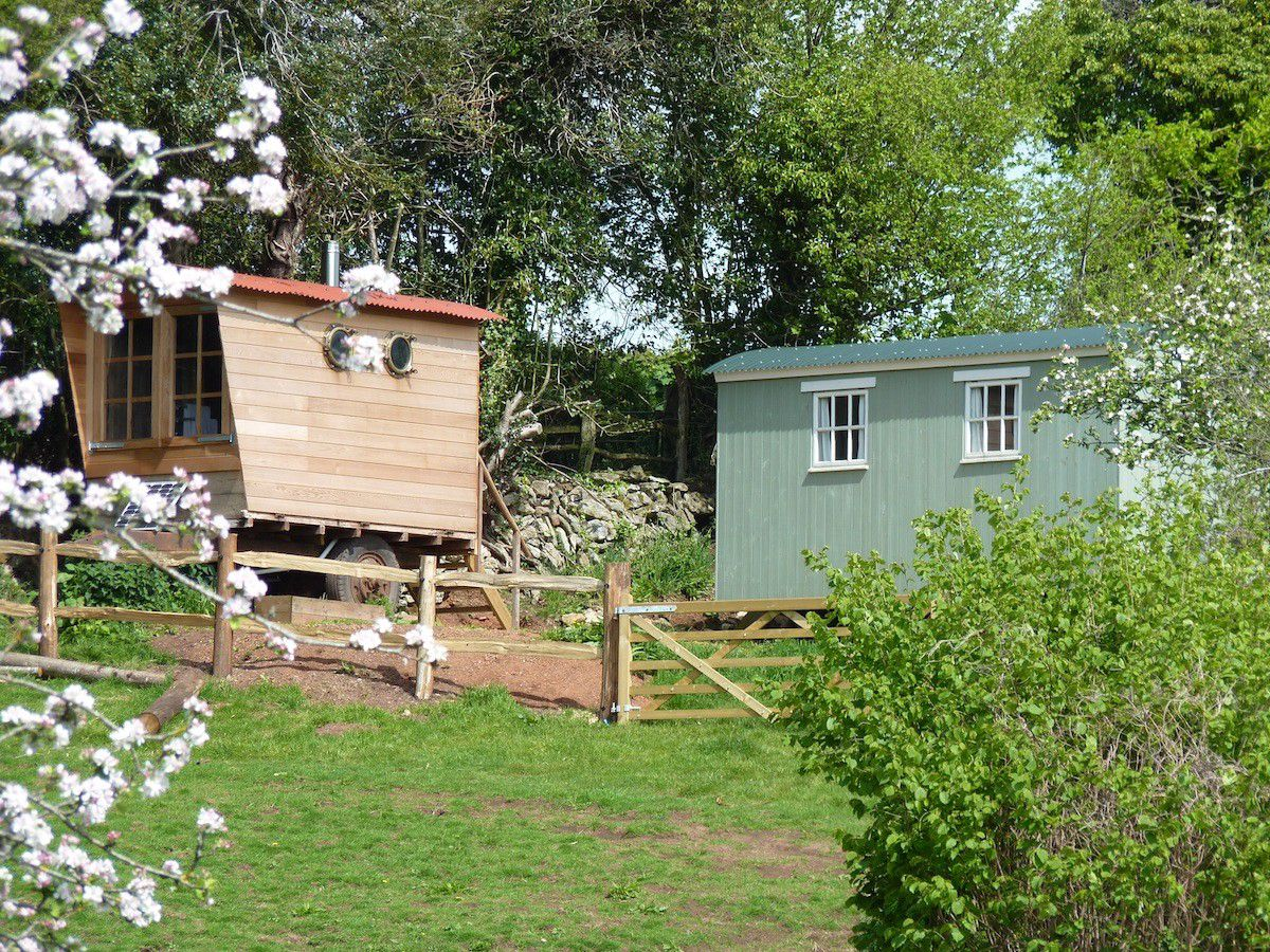 A unique, secluded glamping experience comprising a shepherds hut for couples and a family-friendly safari tent in two amazing locations in the Devonshire countryside.