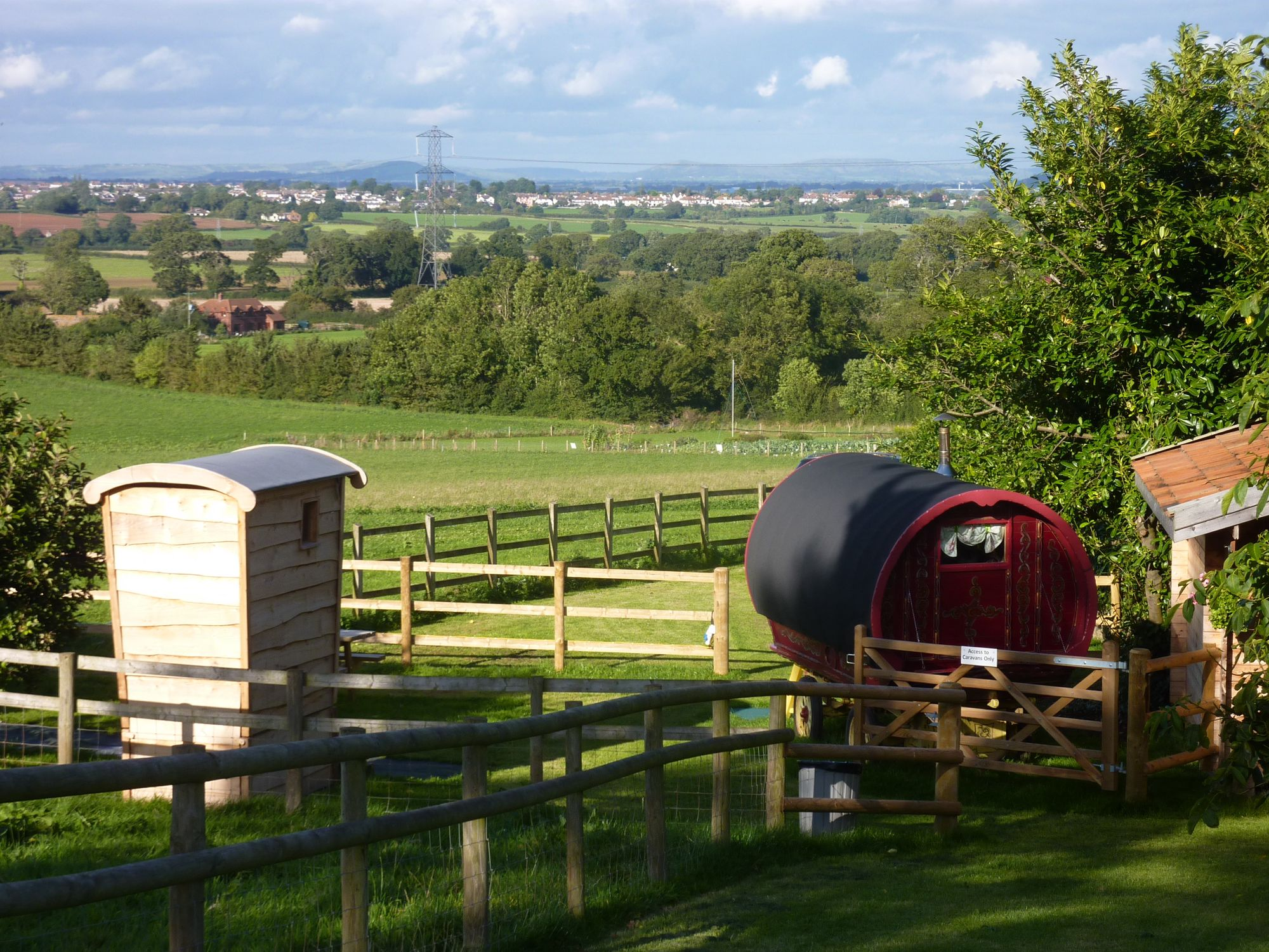 Campsites in the Quantock Hills Area of Outstanding Natural Beauty