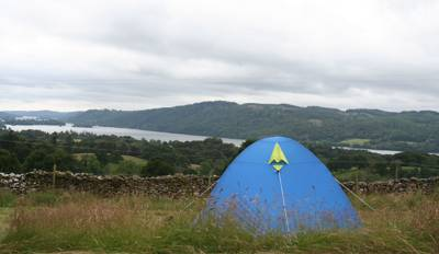Camping and glamping in the grounds of a YHA hostel, with spectacular views of Lake Windermere.