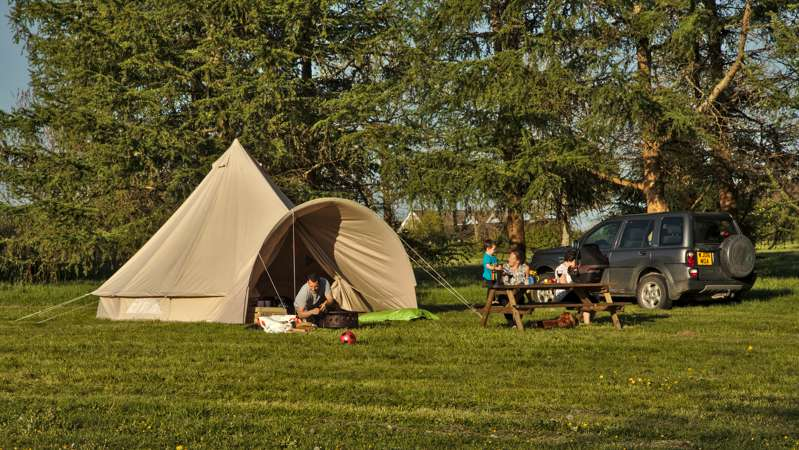 Red Kite Furnished Bell Tent