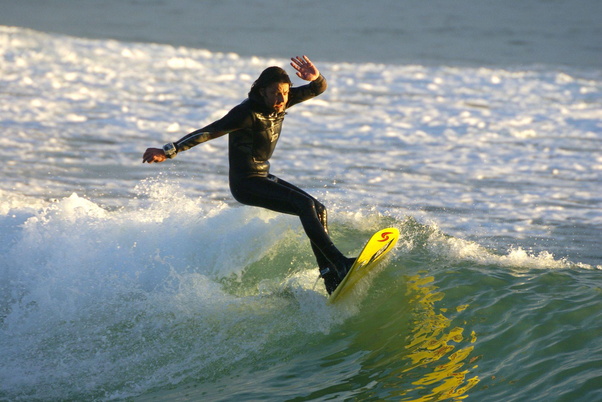 Surfing at Whitesands
