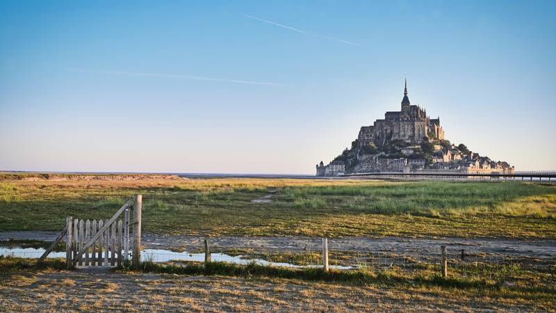 Iconic Mont Saint Michel on France's North West coast.