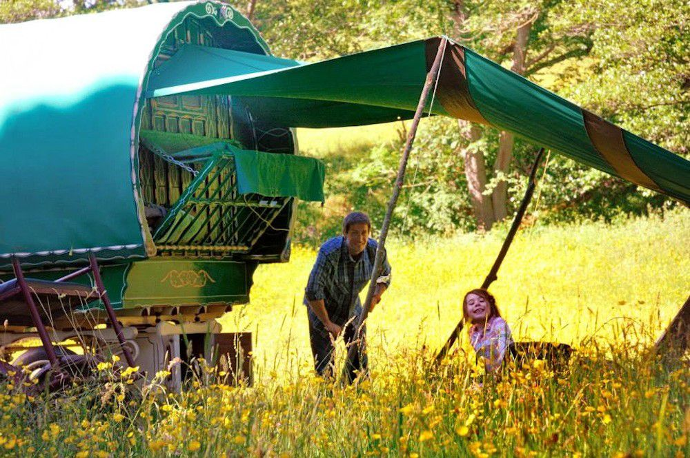 An exceptional Lake District glamping experience with real on-the-road journeys in a traditional gypsy caravan.