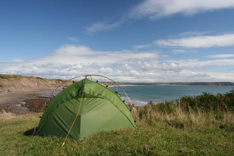 Treheli Farm Campsite overlooks Porth Neigwl (Hell's Mouth, in English), a three-mile-long sandy bay.