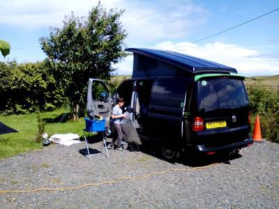 Campervan pitch optional electric no awning