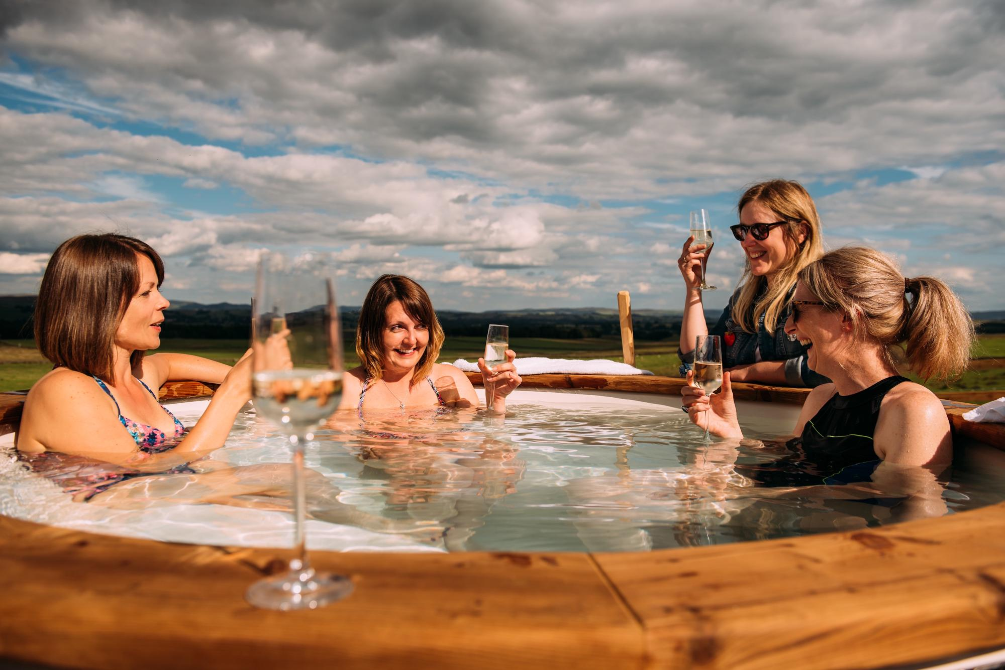 Glamping with Hot Tubs