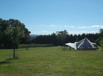 Our unfurnished 5m bell tent
