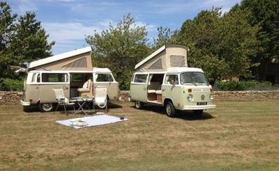 2 Classic VW Campervans ready for a self-drive adventure through Provence and the French Riviera.