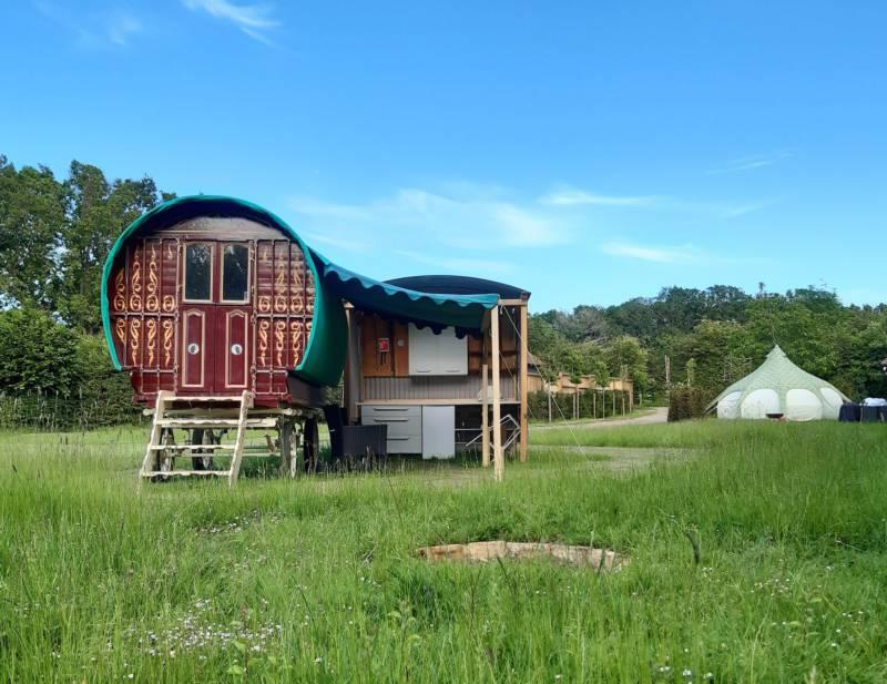 Gypsy Wagon at Oakwood Glamping, sleeps 2