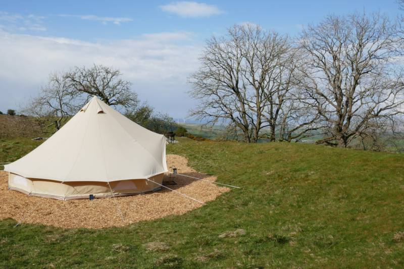 Top Meadow Bell Tent - Private Field