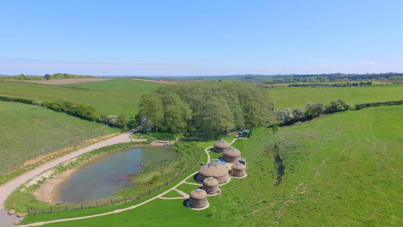 Shire Farm Yurt Village Shire Farm, Hagworthingham, Spilsby, Lincolnshire PE23 4LY