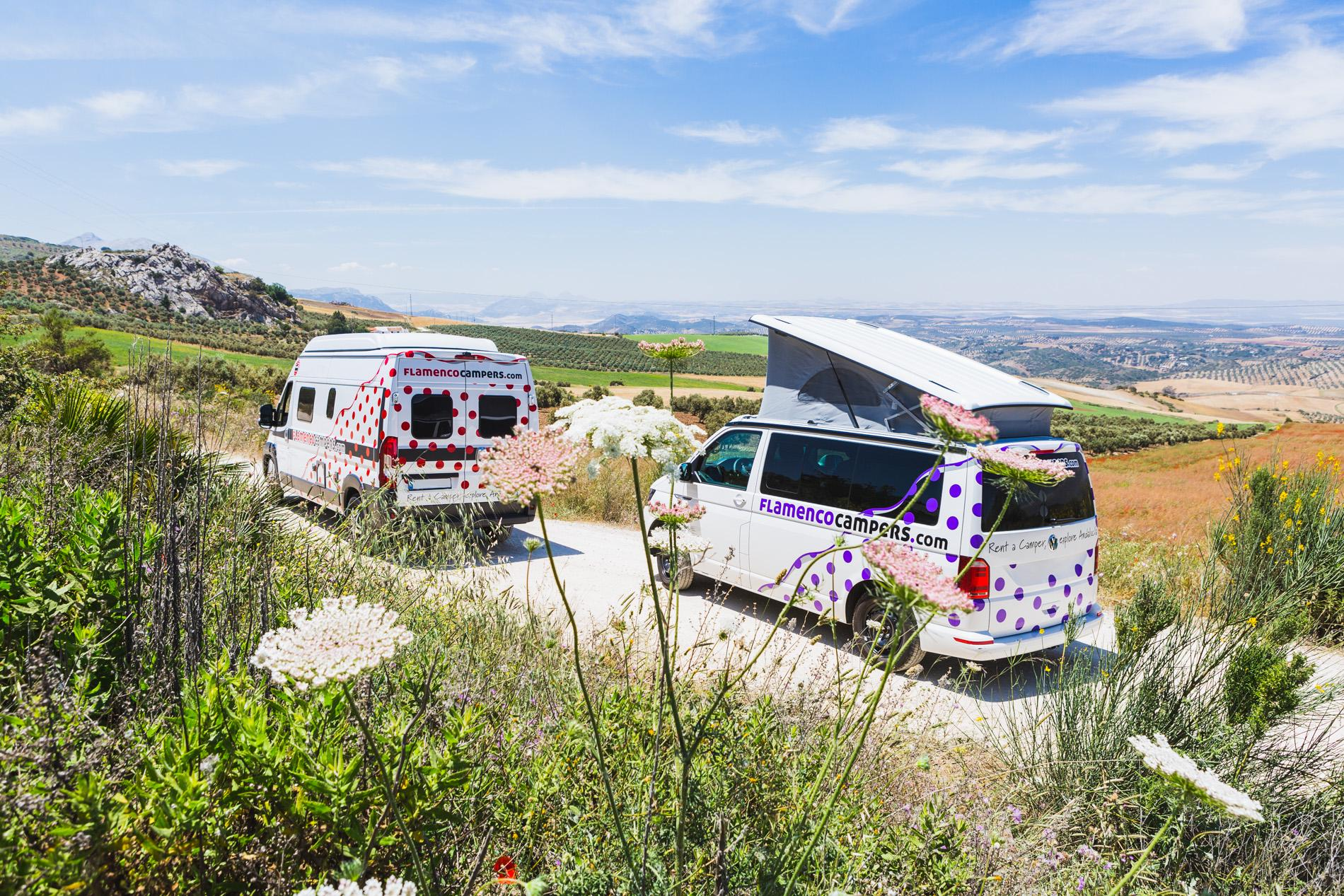 Campervans in Andalucia holidays at Cool Camping