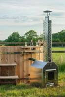 Two-yurt glamping site on a Cumbrian smallholding