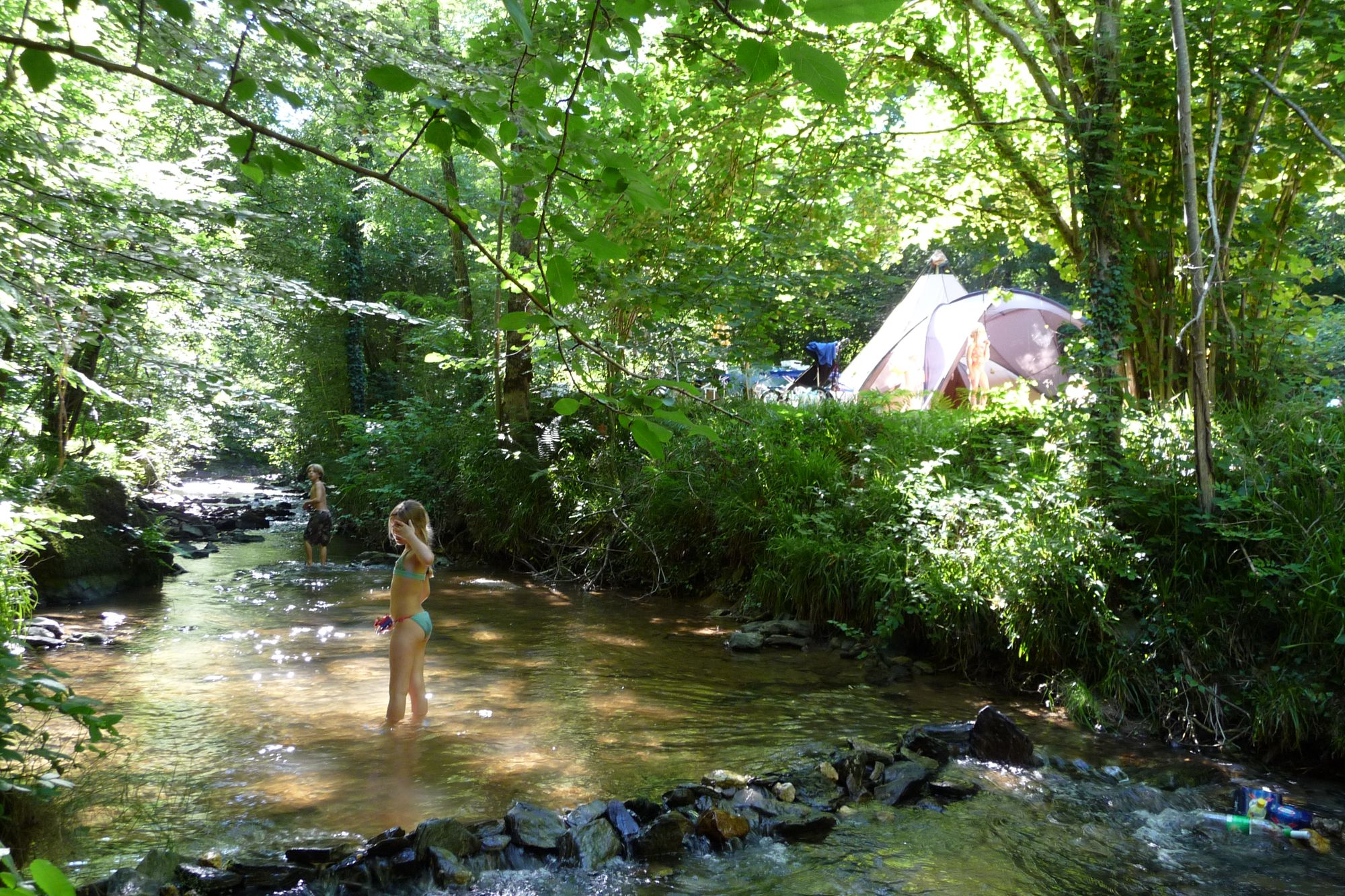 Moulin de Liort: A wonderfully hidden, family-friendly, riverside campsite with space for just a handful of lucky campers.
