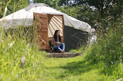 """Off-grid living at its very best"", set amongst some of the most glorious countryside in south-west England."