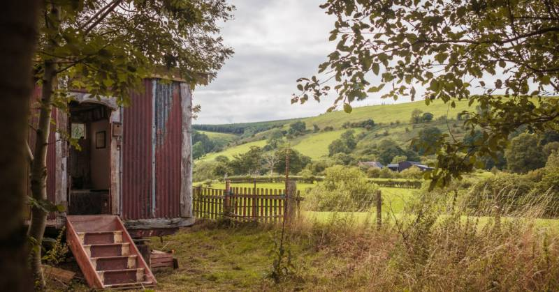 Hamperley Hideaways in Shropshire is home to 10 wild camping pitches and an off-grid hut.