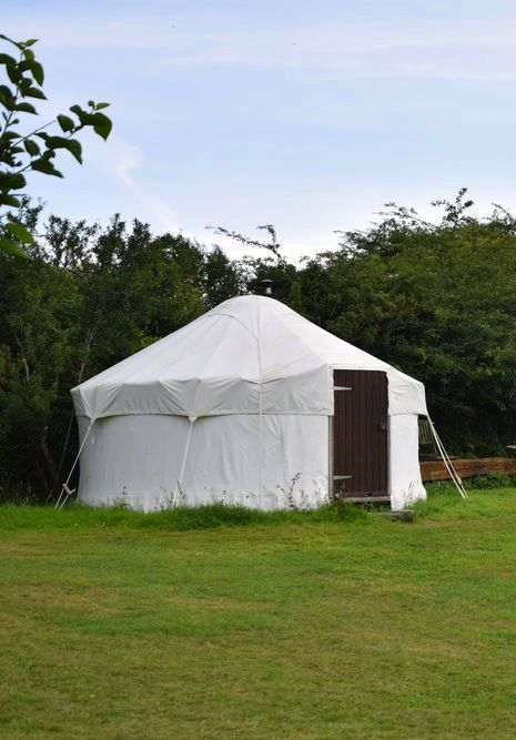 Yurt glamping in Cornwall