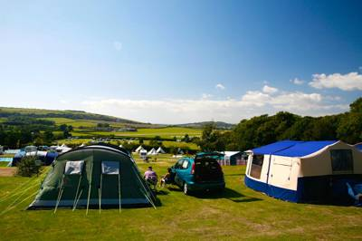 Over 400 pitches found on a south facing gentle slope with gorgeous countryside views.