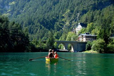 An Austrian castle, Tyrolean Alpine scenery and some of Europe's clearest lakes.