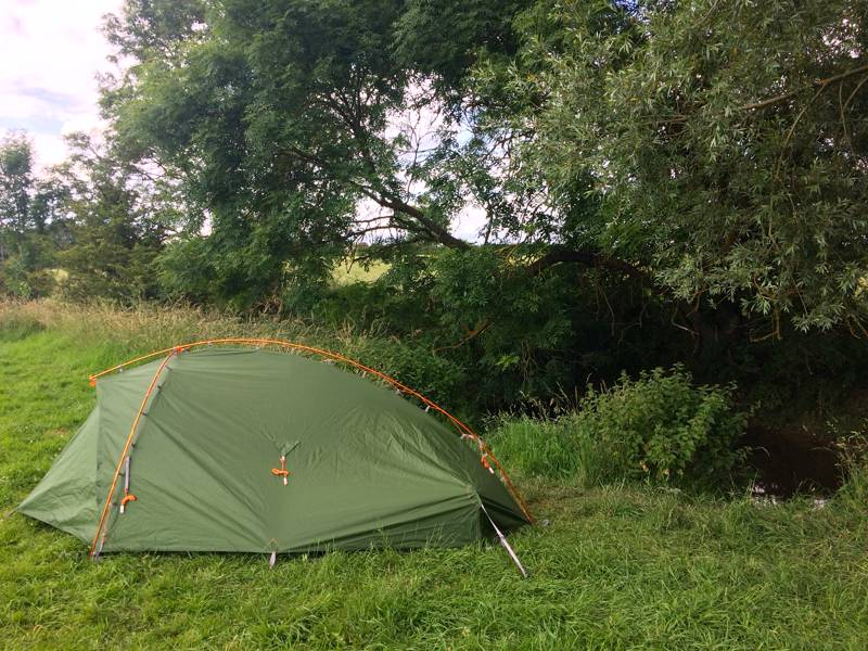 The first pitch of the Vaude Terra Hogan 2-Person Tent.
