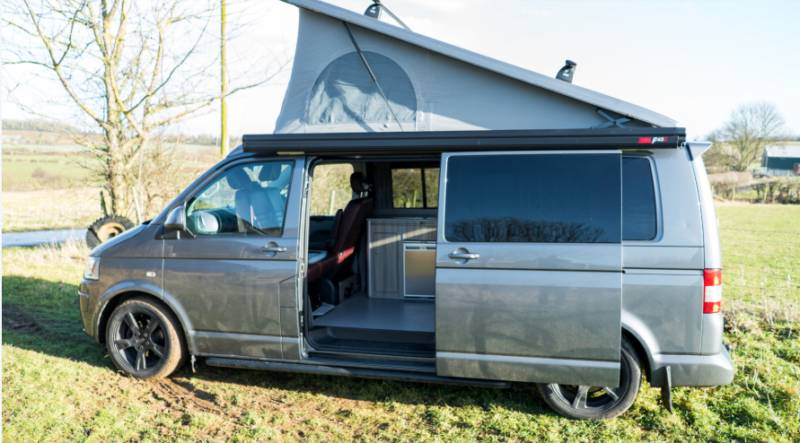 4 birth onsite campervan with electric hookup