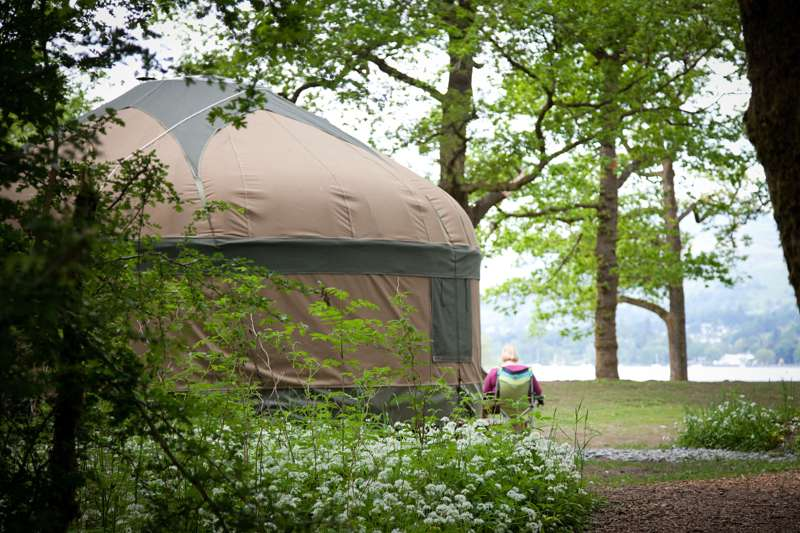 Long Valley Yurts at Low Wray Long Valley Yurts, Low Wray National Trust Campsite, Ambleside, Cumbria LA22 0JA