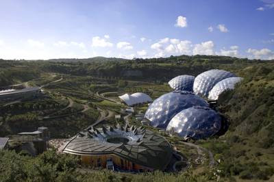 Basic tent camping pitches right by the entrance of Cornwall's world famous Eden Project.