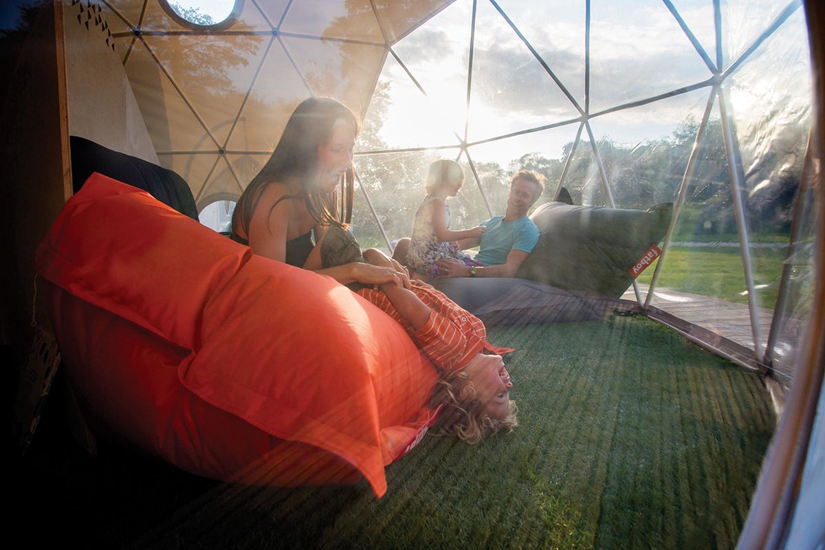 Family friendly glamping sites on