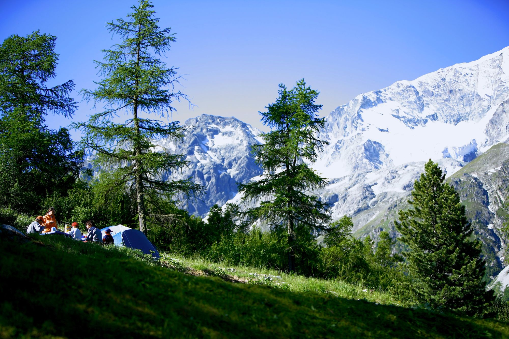 The highest campsite in Europe, with head-clearing air and great views.