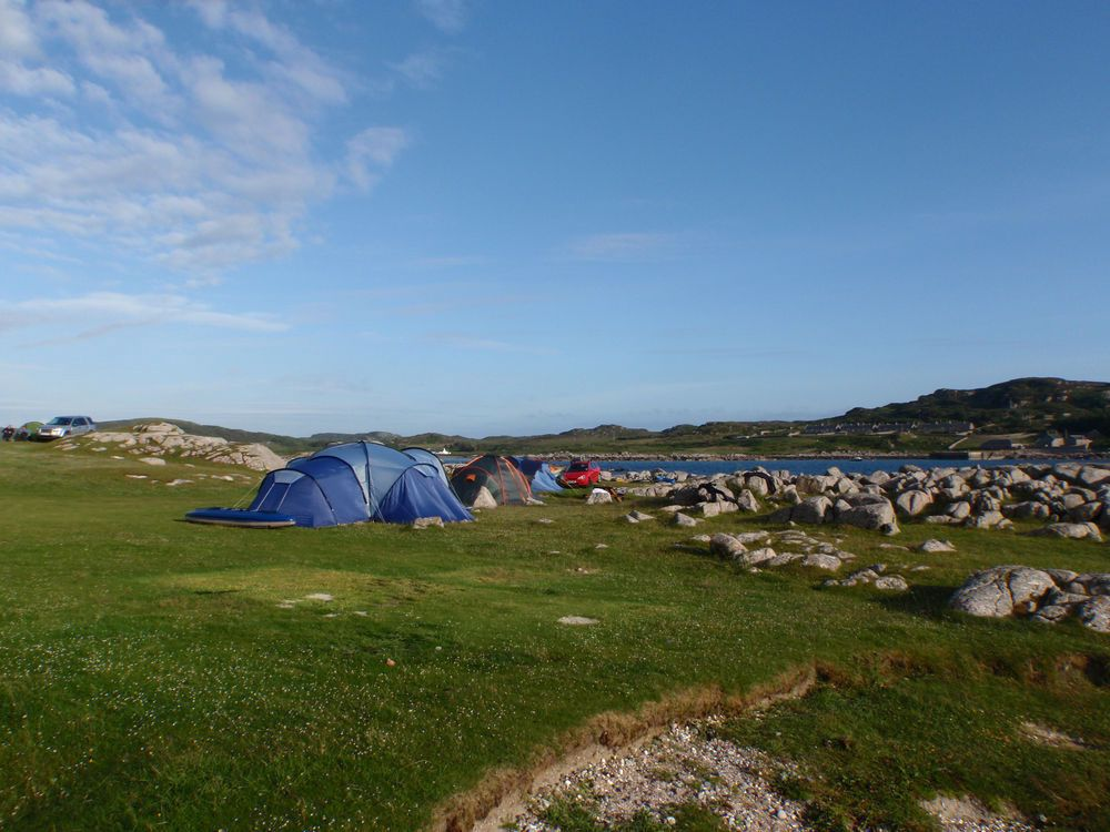 Campsites in Scottish Isles