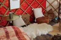 Yurt eco-glamping on the Orkney Islands