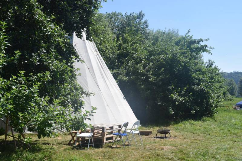 Secluded tipi in the Wye Valley