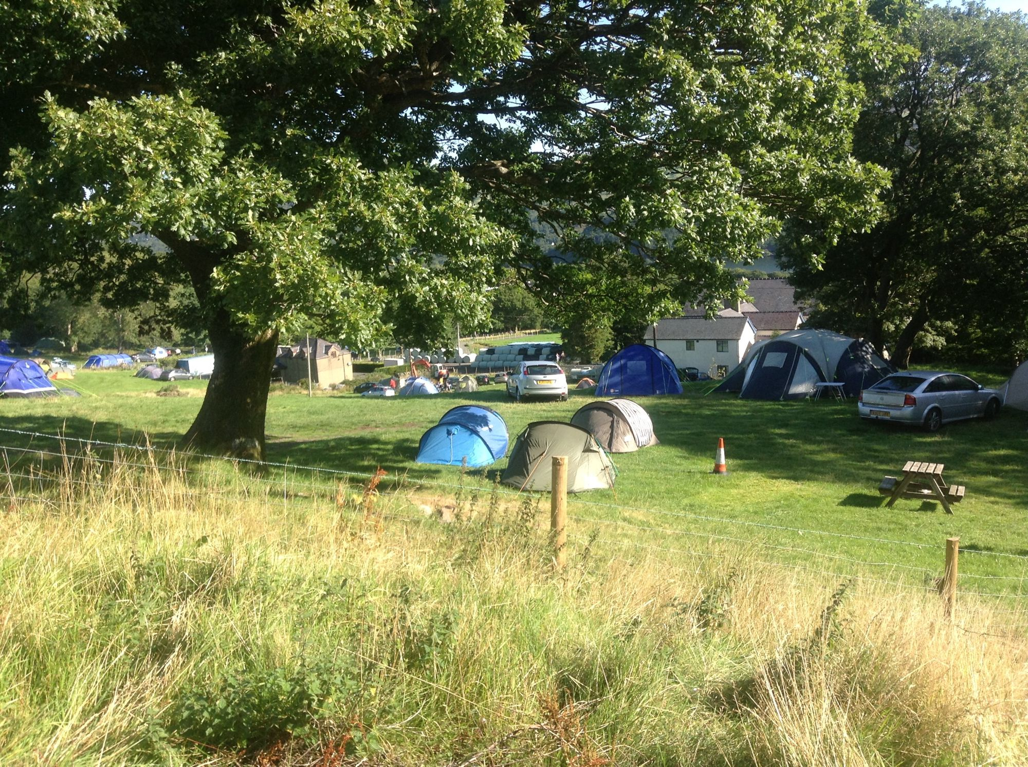 Tents-only camping on a traditional North Wales farm at the 'Gateway to Snowdonia'.