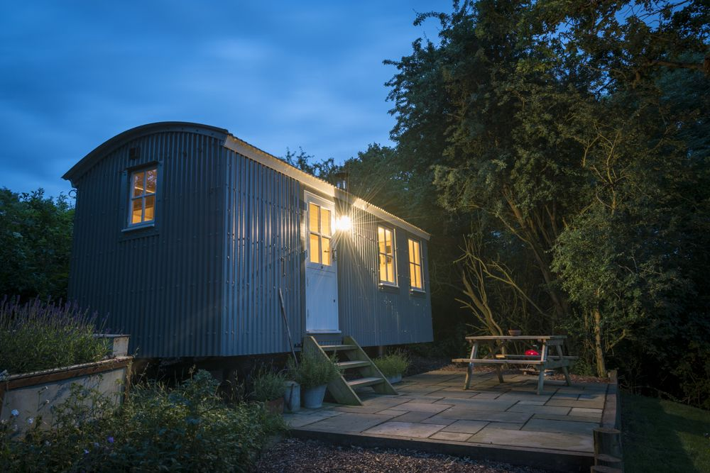 A luxury self-catering shepherds hut for two tucked away on the beautiful Essex coast.