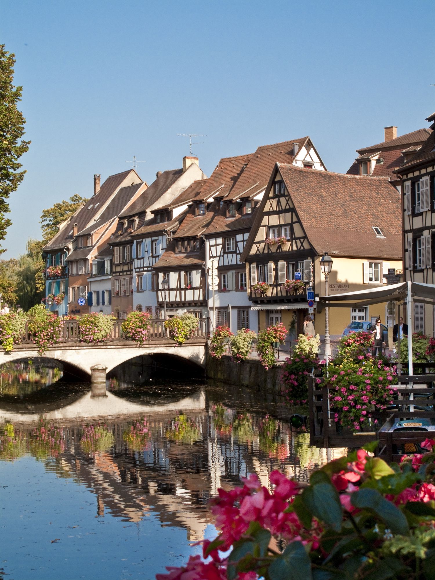 Family-friendly riverside camping on the outskirts of Colmar in Eastern France.
