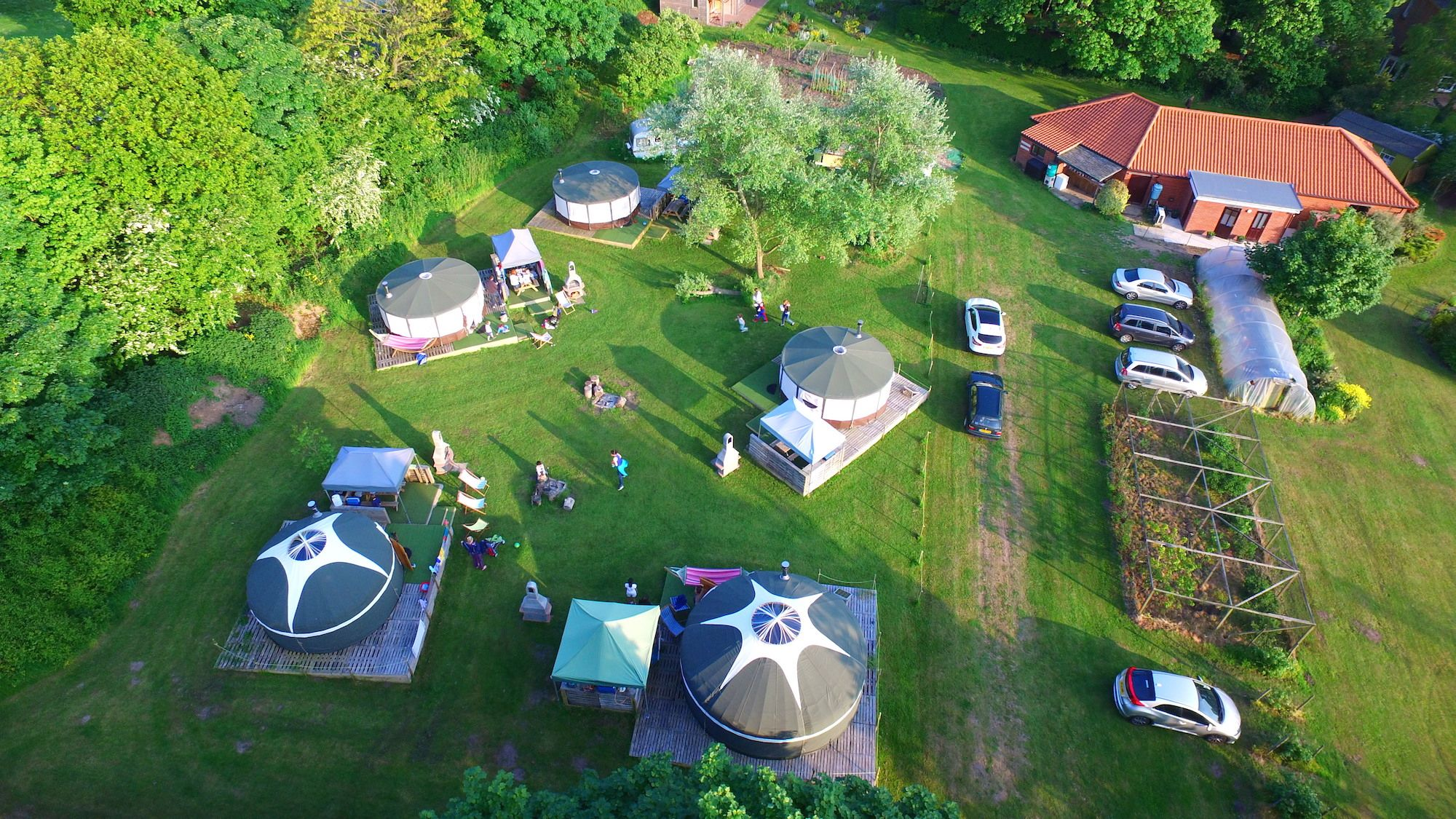Beautifully-appointed bell tents in the grounds an historic Norfolk guesthouse, just a pebble's pelt from the beach.